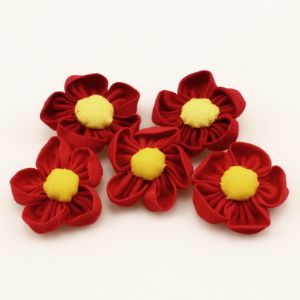 Cloth miniatures, Cloth, red, Yellow, 3.5cm x 3.5cm x 1.2cm, (DSG029)